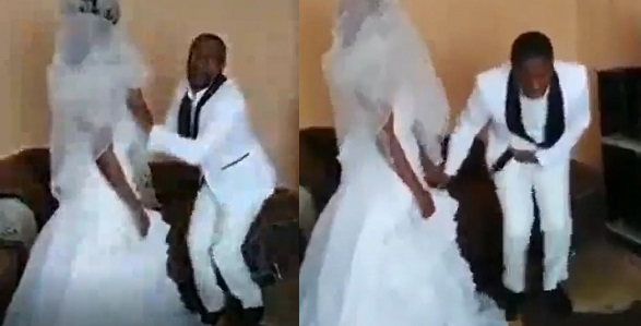 hilarious-video-of-groom-speaking-in-tongues-after-he-was-asked-to-kiss-the-bride