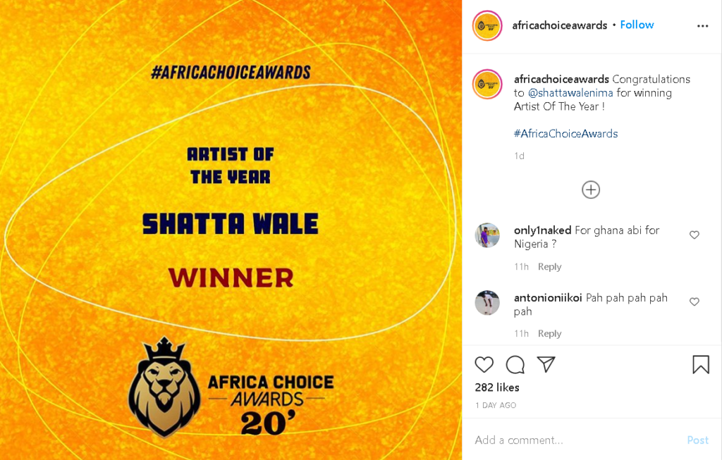 shatta-wale-crowned-artist-of-the-year-at-africa-choice-awards